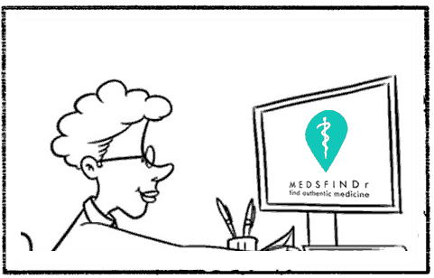 MedsFindr - Doctor uses MedsFindr to find authentic medicine