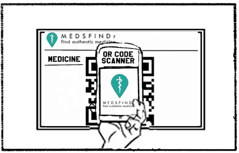 MedsFindr - She uses her phone to get the prescription from the doctor.
